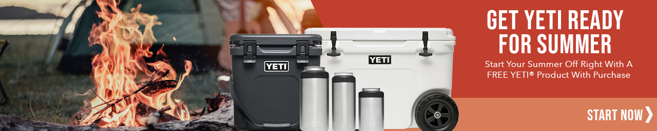 Get free yeti products with purchases $1200 and more - use promo code YETIREADY at checkout.