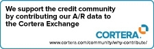 We support the credit community by contributing our A/R data to the Cortera Exchange.